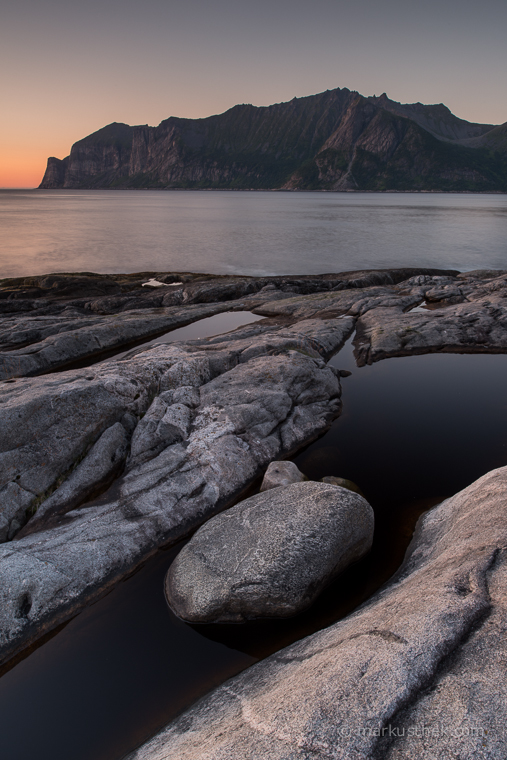 Landschaftsfotografie light auf der Insel Senja.