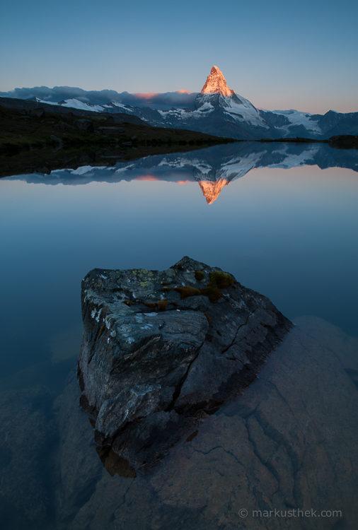 Das Matterhorn bei Sonnenaufgang