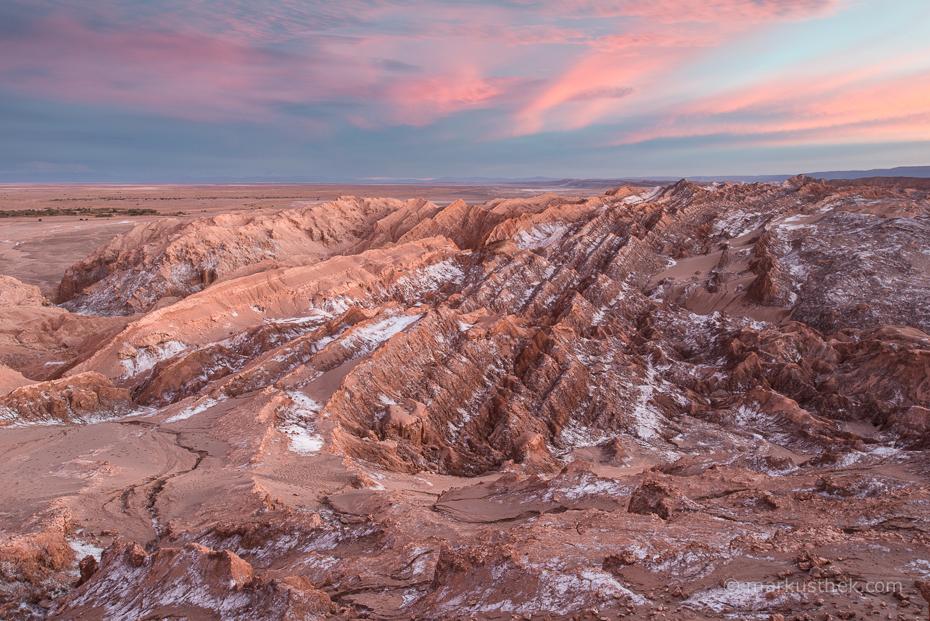Ein Sonnenuntergang in der Atacamawüste