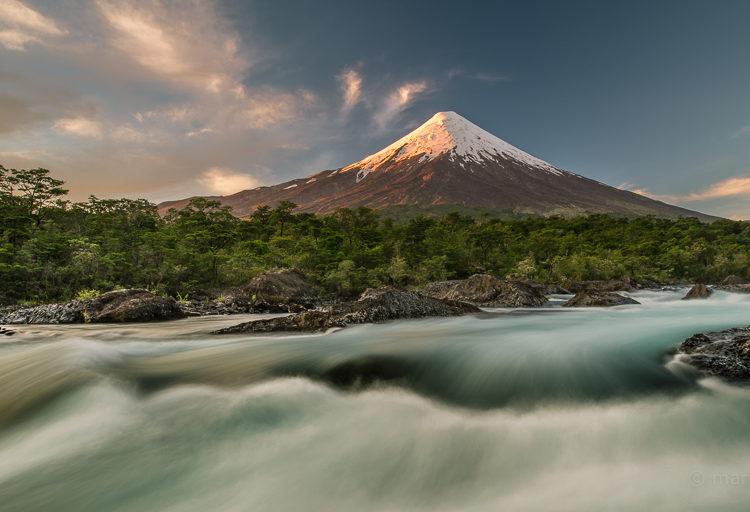 Der schneebedeckte Vulkan Osorno