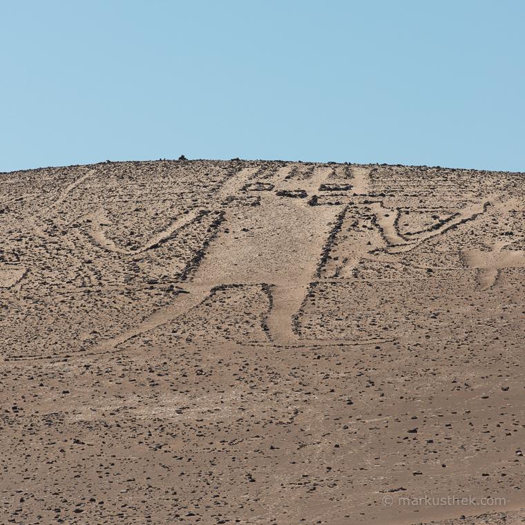 Eine riesige Abbildung in der Atacama-Wüste.