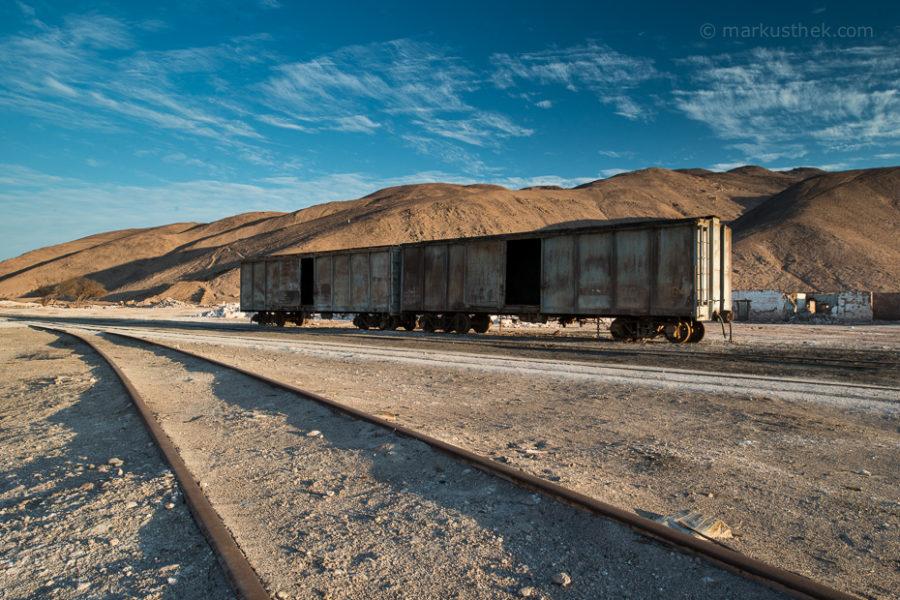 Im neuen Buch von Markus Thek: Alte Salpeterminen in der Atacamawüste.