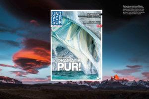 Ein Fotobeitrag mit Landschaftsaufnahmen aus Patagonien im österreichischen Universum-Magazin.
