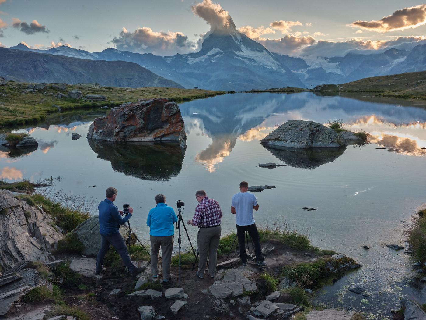 Ein Fotokurs in der Matterhorn-Region. In den Bergen lernen wir das Fotografieren.