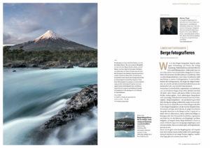 Im Naturblick-Magazien in der ersten Ausgabe 2021 schmückt ein mehrseitiger Fotobeitrag über die Bergfotografie die Seiten. Tipps und Tricks zur Landschaftsfotografie.