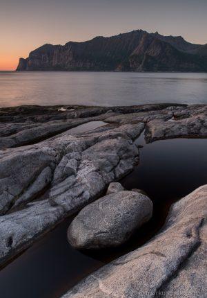 Der Mefjord in Nord-Norwegen