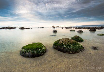 Eine Küsten-Landschaft im Zentrum von Chile.